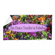Floral Dance Teacher Beach Towel