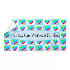 Day Care Hearts Beach Towel