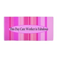 Pink Day Care Beach Towel