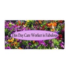 Floral Day Care Beach Towel