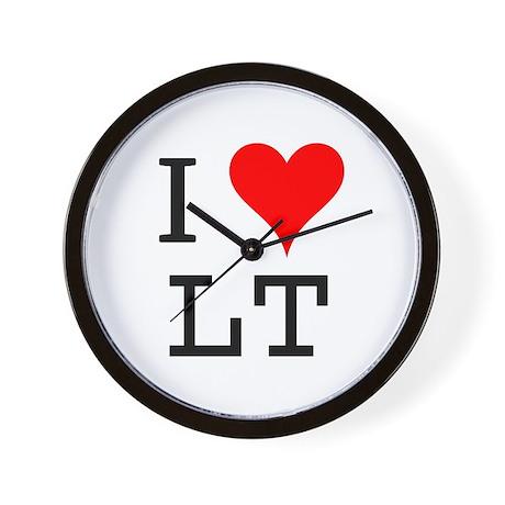I Love LT Wall Clock