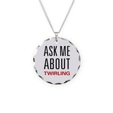 Ask Me About Twirling Necklace