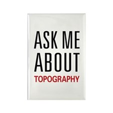 Ask Me About Topography Rectangle Magnet