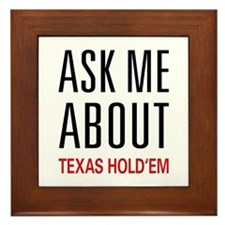 Ask Me About Texas Hold 'Em Framed Tile