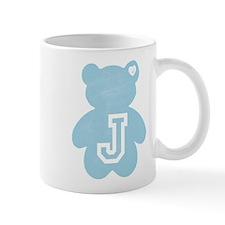 Teddy Bear with Letter J Mugs