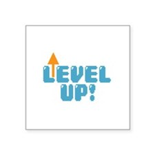 "Level Up Gamer Square Sticker 3"" x 3"""