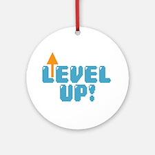 Level Up Gamer Ornament (Round)