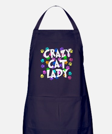 Crazy Cat Lady Apron (dark)