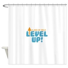 Level Up Class of 2014 Grad Shower Curtain