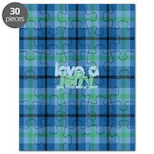 Love a Lefty Plaid Blue Puzzle