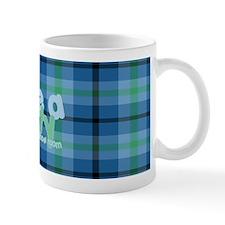 Love a Lefty Plaid Blue Mug