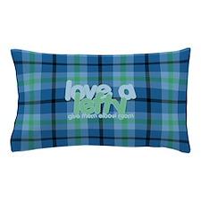 Love a Lefty Plaid Blue Pillow Case