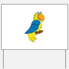 Tropical Bird Yard Sign