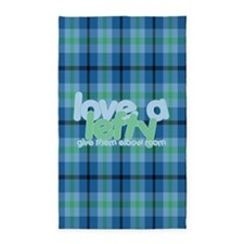 Love a Lefty Plaid Blue 3'x5' Area Rug