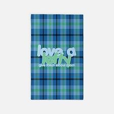 Love a Lefty Plaid Blue 3'x5' Area Rug