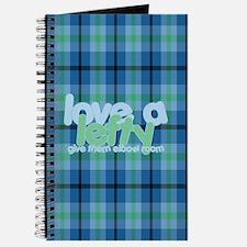 Love a Lefty Plaid Blue Journal