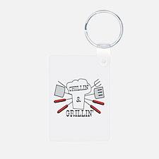 Chillin & Grillin BBQ Fun Keychains