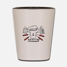 Chillin & Grillin BBQ Fun Shot Glass