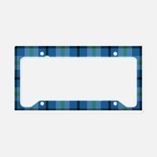 Love a Lefty Plaid Blue License Plate Holder