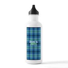 Love a Lefty Plaid Blu Water Bottle