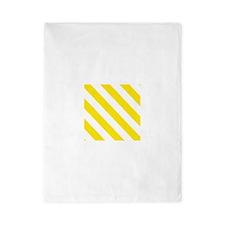 Yellow Diagonal Stripes Twin Duvet