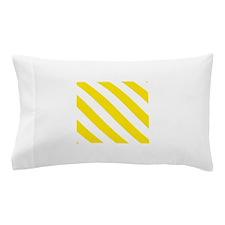 Yellow Diagonal Stripes Pillow Case