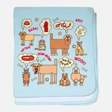 What Dogs Think baby blanket