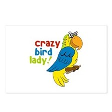 Crazy Bird Lady! Postcards (Package of 8)