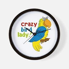 Crazy Bird Lady! Wall Clock
