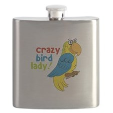 Crazy Bird Lady! Flask