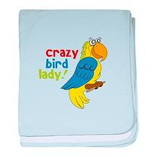 Crazy Bird Lady! baby blanket