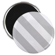 Grey Diagonal Stripes Magnets