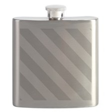 Grey Diagonal Stripes Flask
