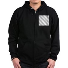 Grey Diagonal Stripes Zip Hoody