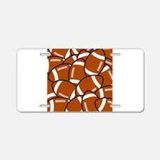 American Football Pattern Aluminum License Plate