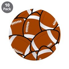 "American Football Pattern 3.5"" Button (10 pack)"