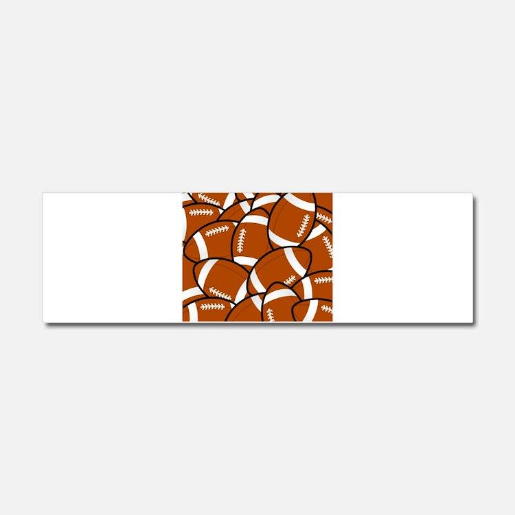 American Football Pattern Car Magnet 10 x 3