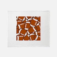 American Football Pattern Throw Blanket