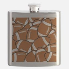 American Football Pattern Flask