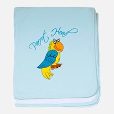 Parrot Head baby blanket