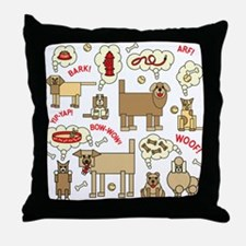 What Dogs Think Throw Pillow