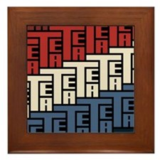 The Tea Party Framed Tile