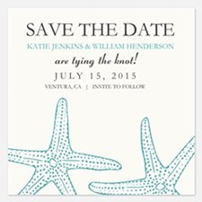 Elegant Starfish Save The Date Invitations