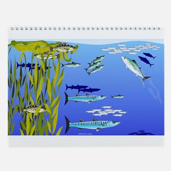 Kelp Bed Fish Wall Calendar