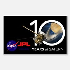 Cassini @ 10! Sticker (rectangle)
