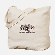 BMX Keeps My Heart Beating Tote Bag