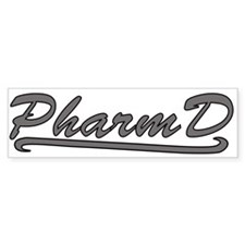 gray pharmd Bumper Sticker