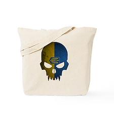 Ukraine Flag Skull Tote Bag