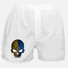 Ukraine Flag Skull Boxer Shorts
