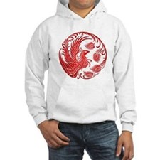 Traditional Red Phoenix Circle Hoodie Sweatshirt